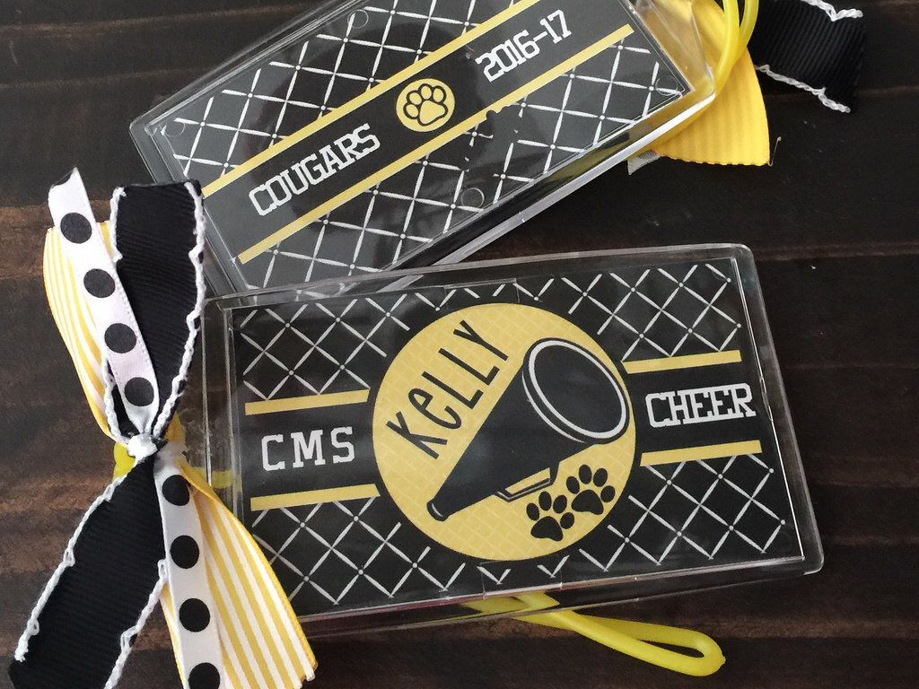 Personalized cheer bag tag for duffle bags cheer gift