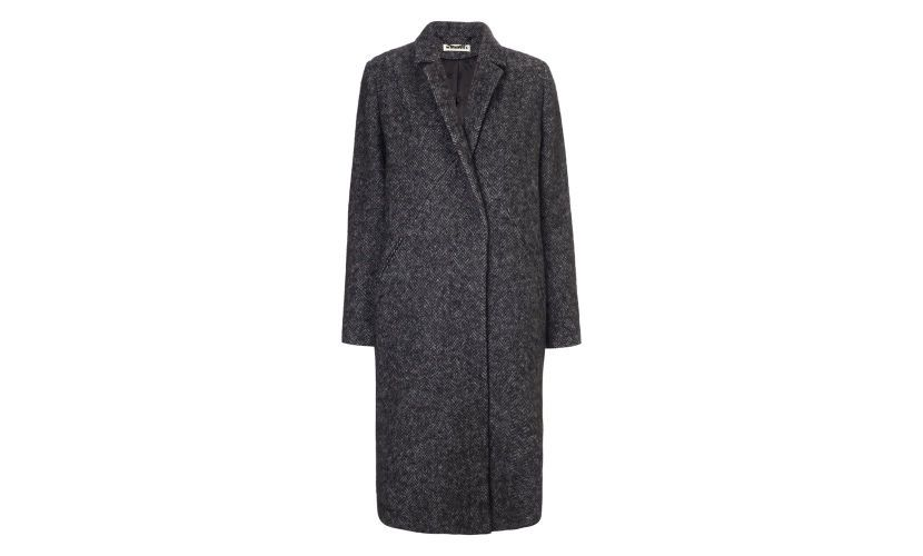 Herringbone Overcoat, Grey | WHISTLES