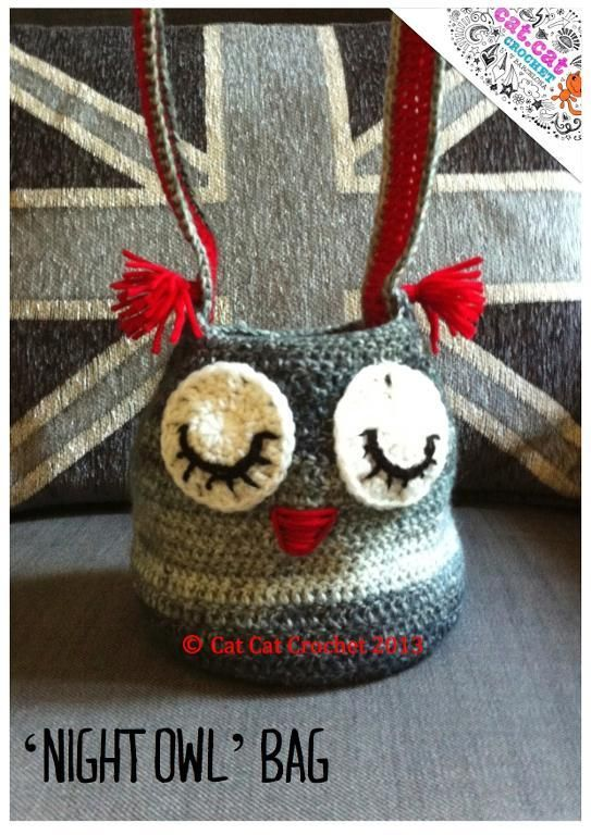 Night Owl Bag Pattern Crochet Pinterest Owl Bags Night Owl