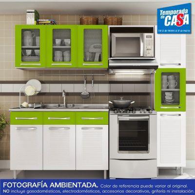 Bertolini cocina natalia verde estilos de cocinas for Muebles de cocina homecenter