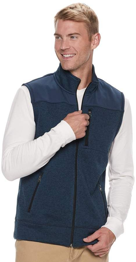 c94ad5ef27 Sonoma Goods For Life Men's SONOMA Goods for Life Supersoft Modern-Fit  Sweater Fleece Vest