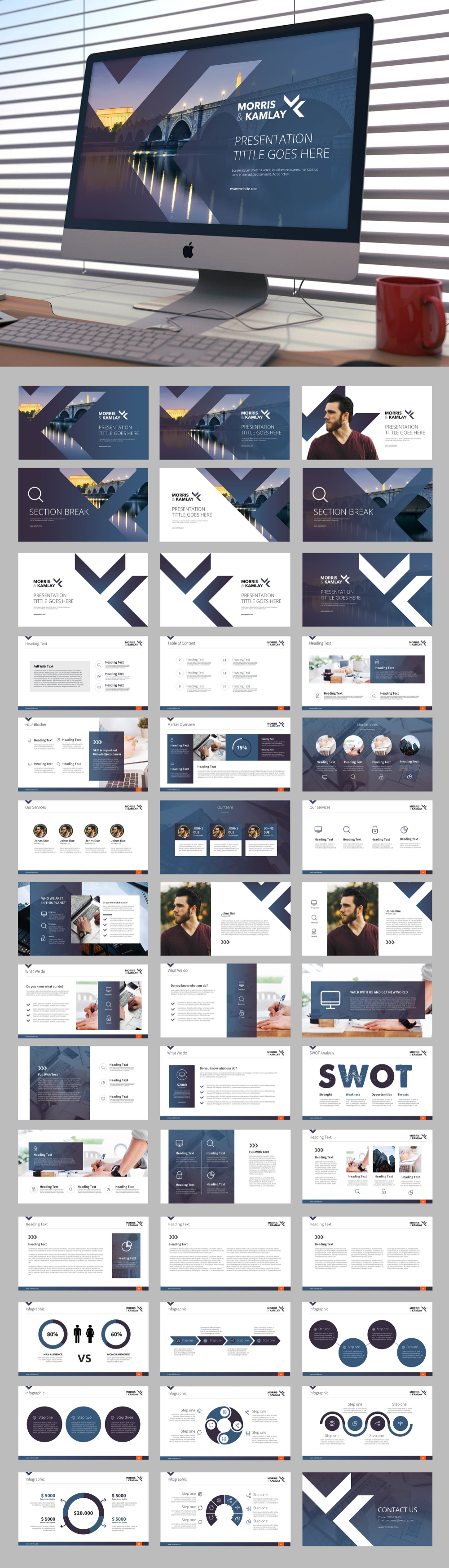 Design clean, modern template for a tech-oriented firm | PowerPoint template contest