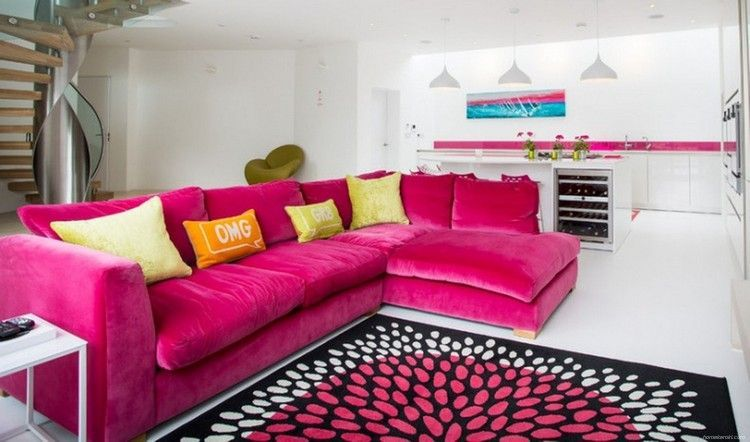 Shabby Chic Pink Sofa Ideas to Brighten Up Your Living Room 52 ...