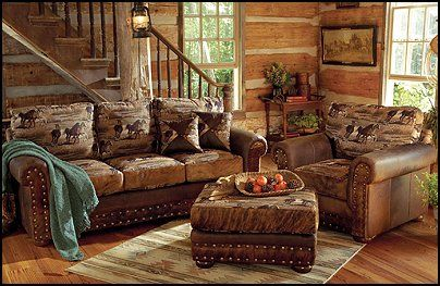 rustic western couches cowboy theme bedrooms rustic