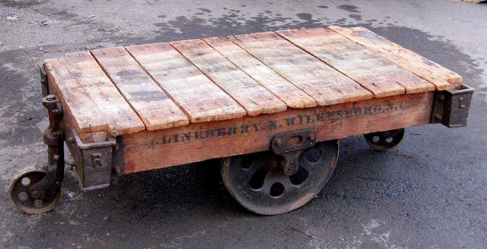 Industrial factory cart with metal wheels (For Inspiration)