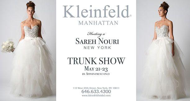 Sareh Nouri Trunk Show At Kleinfeld Bridal In Ny