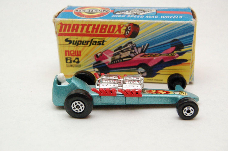 Matchbox Lesney Superfast 64 SlingShot Dragster Met. Blue