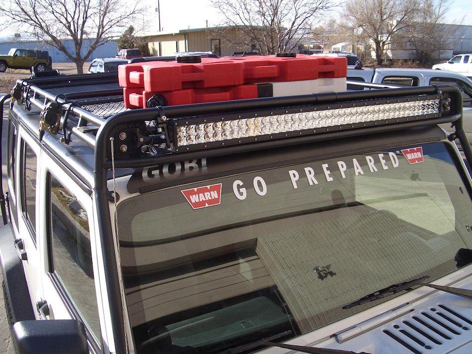 Gobi Jeep Wrangler Jk Unlimited 4 Door Led Recon Roof Rack Free