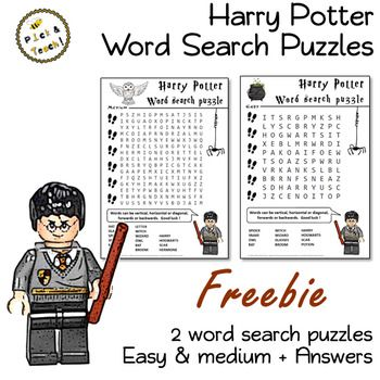 FREE Harry Potter word search puzzle - EASY | English