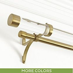Acrylic Double Rod Hardware Set Drapery Hardware Modern Curtain