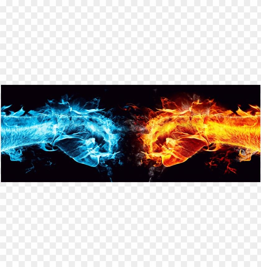 Cool Images Hand Fire And Ice Water Png Free Png Images Fire And Ice Free Clip Art Image