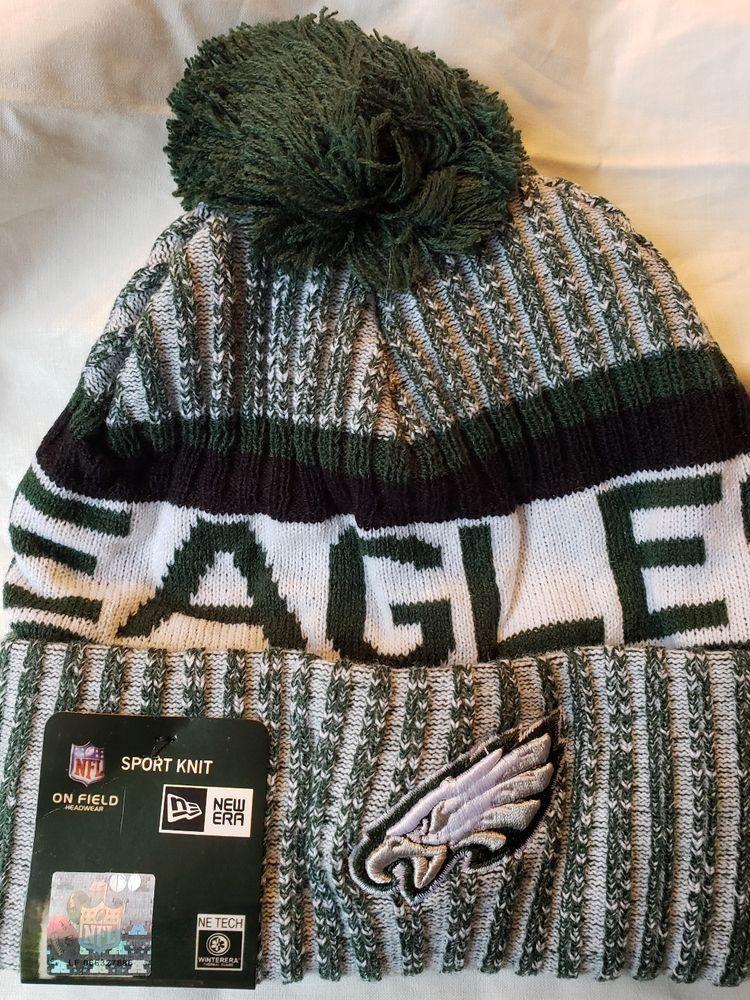 336c3fbc57 PA Eagles 2017-18 Players Sideline Sports Knit Beanie Cap Hat NFL New!   NewEra  PhiladelphiaEagles
