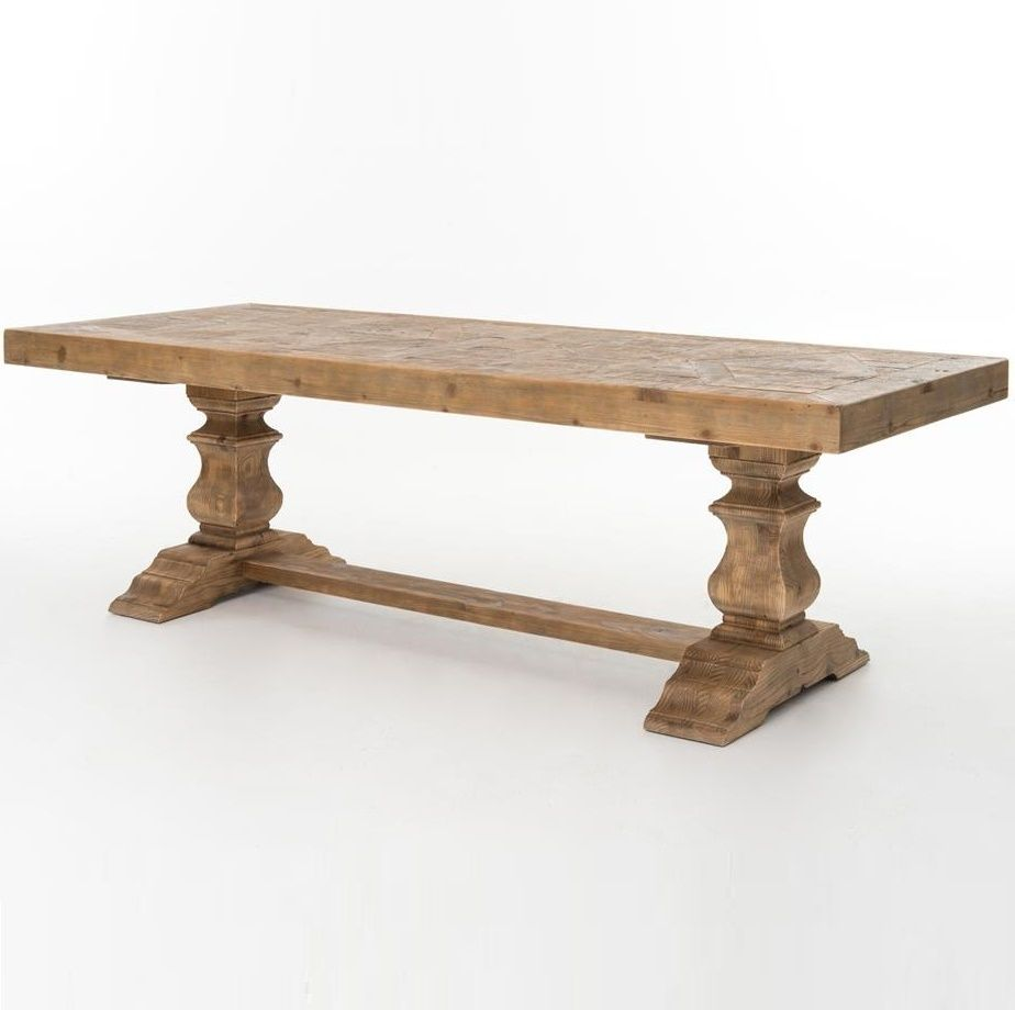 English Castle Dining Trestle Table 98