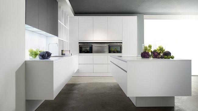 Moderne einbauküchen weiss  laminat weiss moderne designer küchen eggersmann | Hausideen ...
