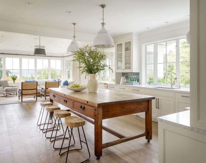1001 ideas de decoraci n de cocina americana sillas for Decoracion cocina americana