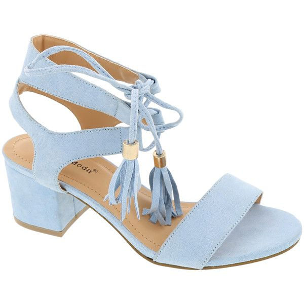 c6c831d0a06 TOP MODA Light Blue Darcie Sandal (1720 RSD) ❤ liked on Polyvore featuring  shoes