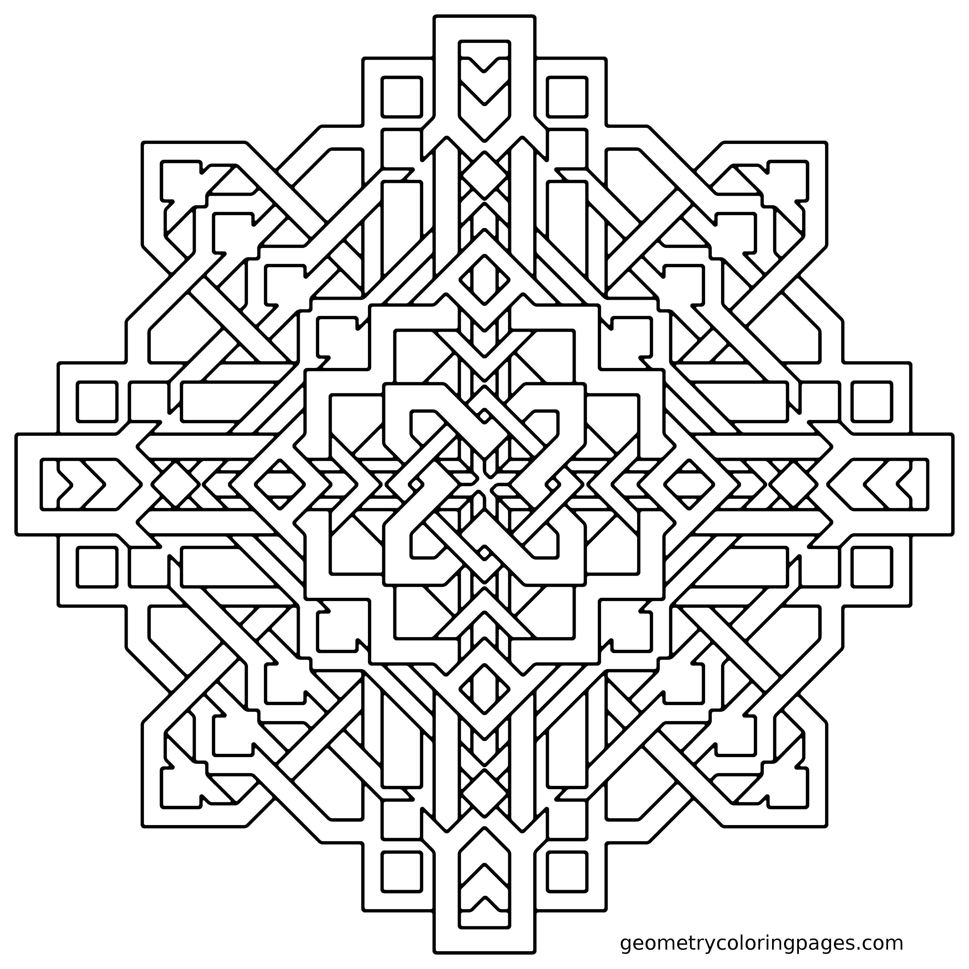 Geometry Coloring Pages All Age Coloring Pages Geometric Coloring Pages Shape Coloring Pages Mandala Coloring Pages