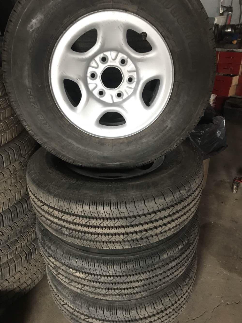 Rims And Tires Canada >> Lt 245 75r16 Bridgestone On Chevy Rims Used Tires Canada Chevy