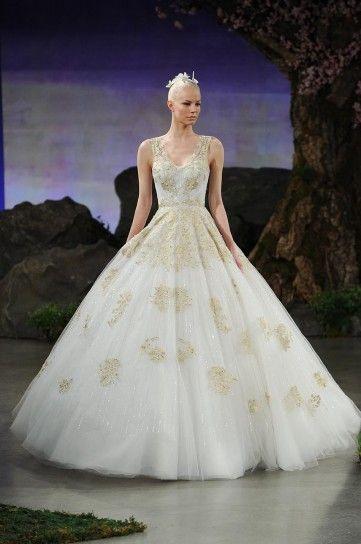 2bb921f96a7c Abito bianco e oro Ines Di Santo Abito Da Sposa