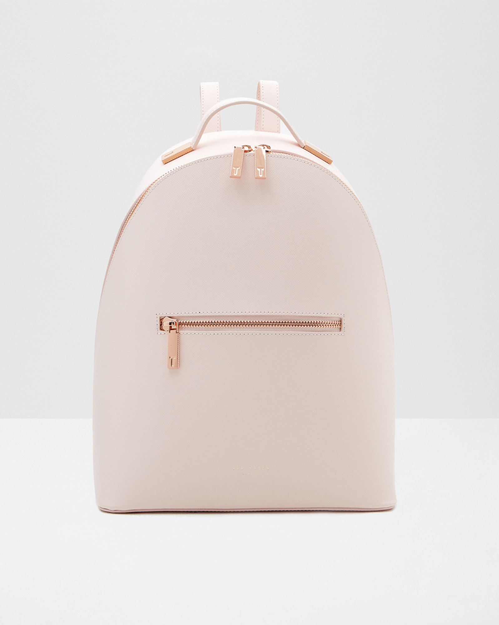 e64948bcc Cross grain leather backpack - Baby Pink