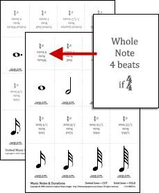 Free Printable Music Notes And Dotted Music Notes With Durations