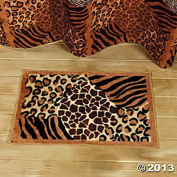 Leopard Print Bathroom Decor Animal Bath Mat Home Textiles Terry S Village