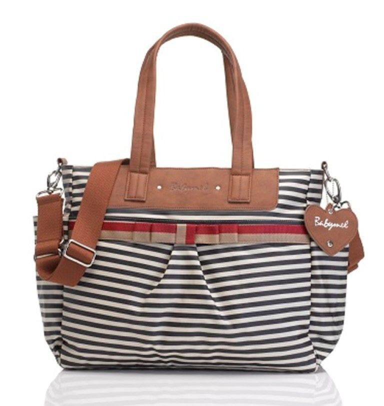 New Cara Navy Srtipe Babymel Diaper Bag Motherhood Closet