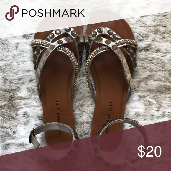 40f8e66ac3e7e Madden Girl Sandals Silver bling Madden Girl sandals with ankle buckle Madden  Girl Shoes Sandals