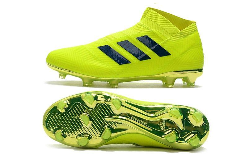 huge selection of 02177 2ab60 adidas Nemeziz 18+ FG Zapatillas de Fútbol - Verde Negro