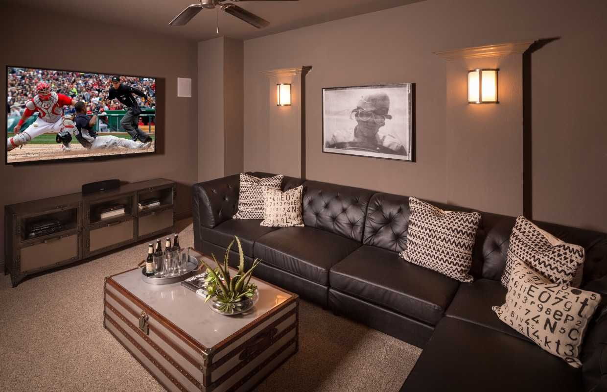 Imagine Cozying Up With Your Family For A Movie Night In This Sy Media Room Coronado San Antonio Tx Highland Homes Plan 539