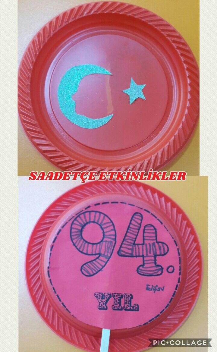 Plastik Tabaktan Bayrak Ve Ataturk Boyama Sayfalari Mandala