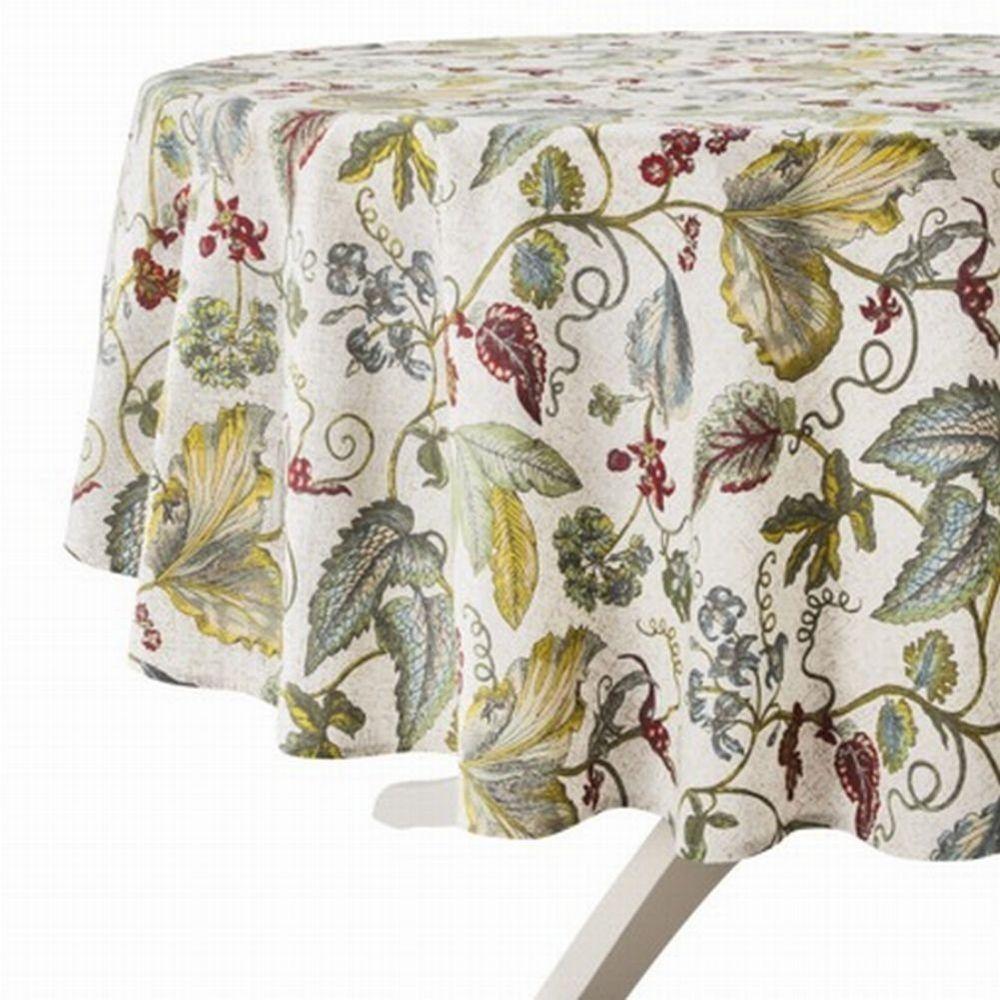 Target Threshold Botanical Leaves Amp Flowers Tablecloth