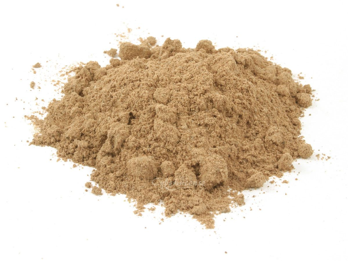 This is Makko. Makko is a natural combustible material from the Tabu-no-ki tree, which grows in parts of Asia. It is a powdered material that burns slowly but with high heat. An indentation is made in the ash using an ash press then the trail is filled with makko powder and compacted slightly using the ash press.