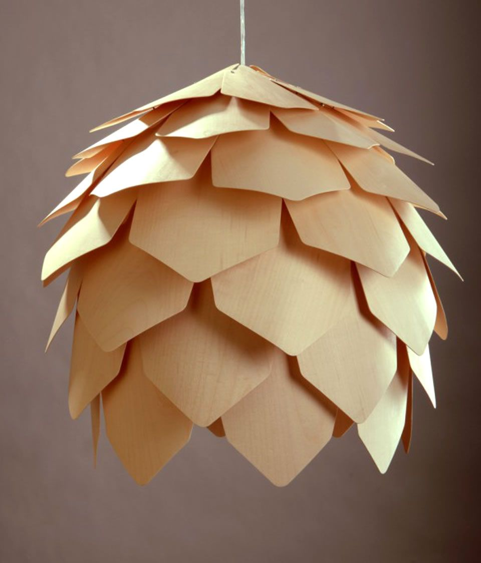 pinecone wooden pendant light scandinavian pendant lighting. moscowbased lighting and furniture designer pavel eekra has created the crimean pinecone light a modern hanging lamp with curved plaques that form wooden pendant scandinavian
