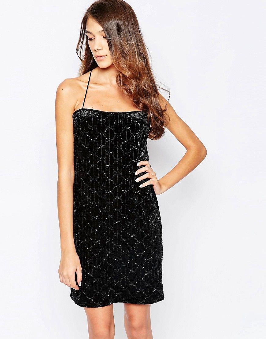 De sejeste Hedonia Imogen Velvet Cami Dress - Black Hedonia Kjoler til Damer til hverdag og fest