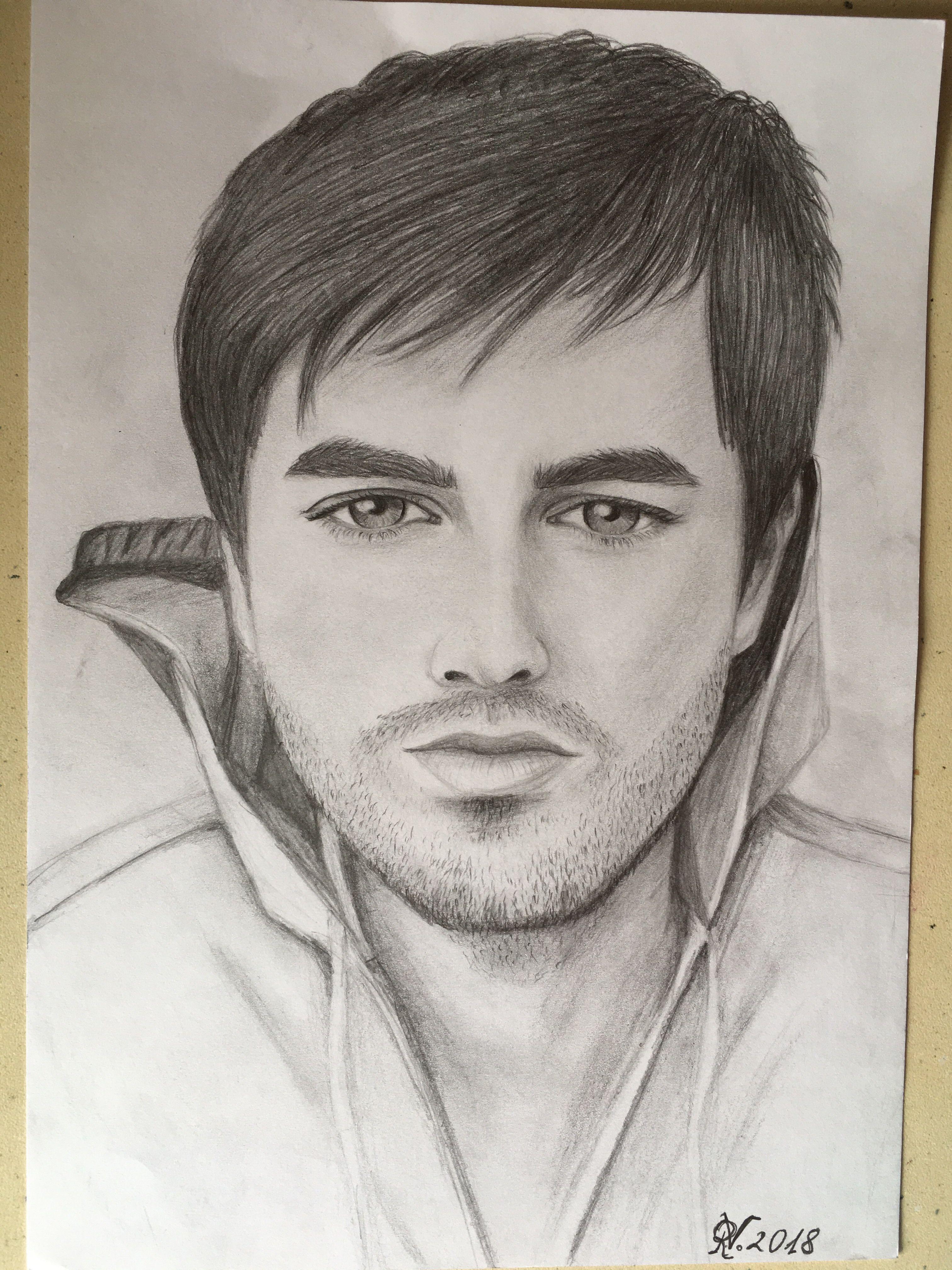 Enrique Iglesias Portrait Drawing Drawingportrait Drawingpenci Portratzeichnung Zeichnungen Von Menschen