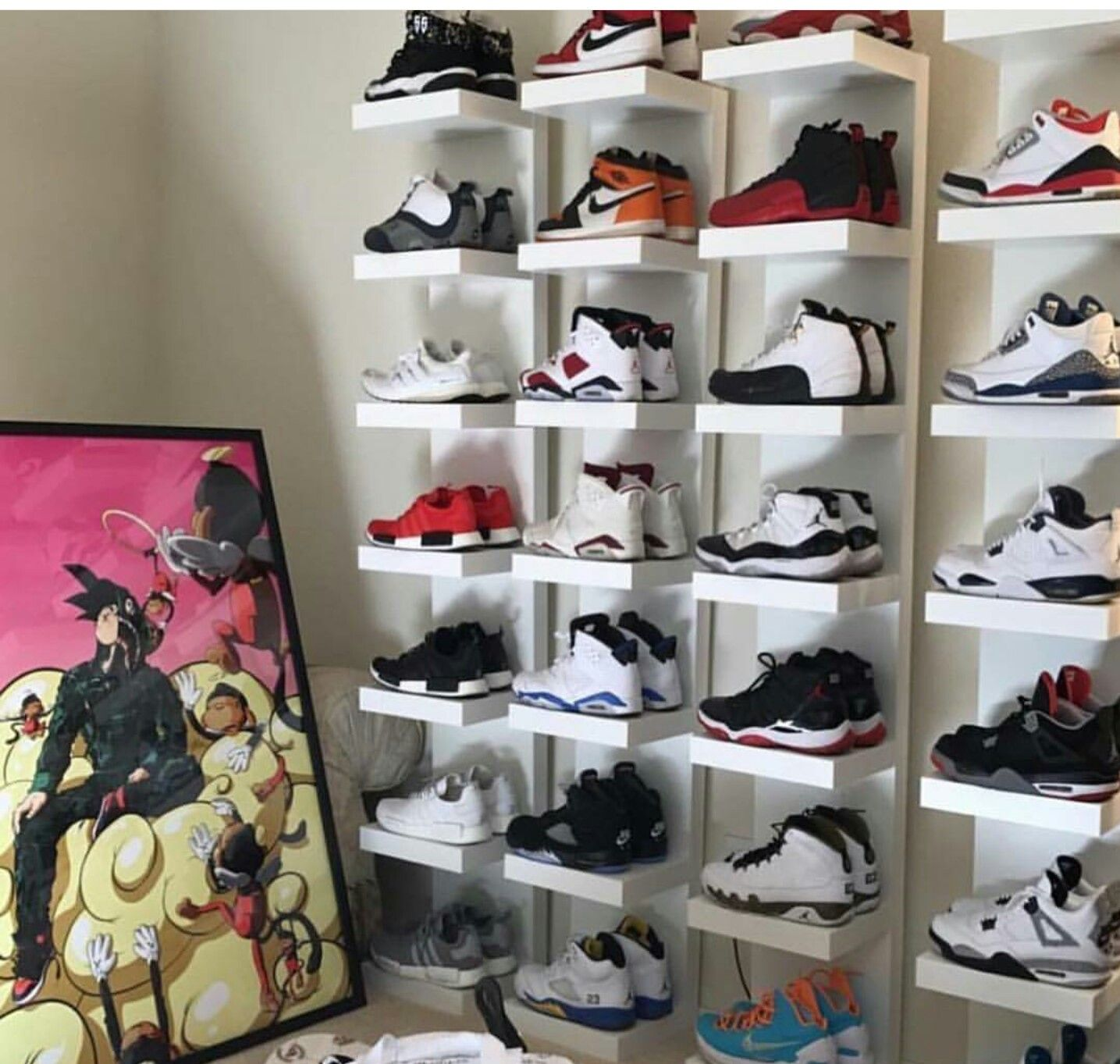 Shoe Rack Shoe Room Shoe Wall Sneaker Displays