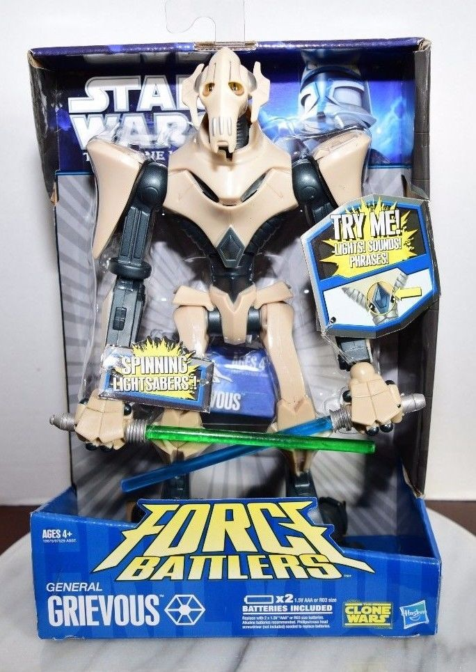 Star Wars The Clone Wars Force Battlers General Grievous Talking Action Figure Clone Wars Star Wars War