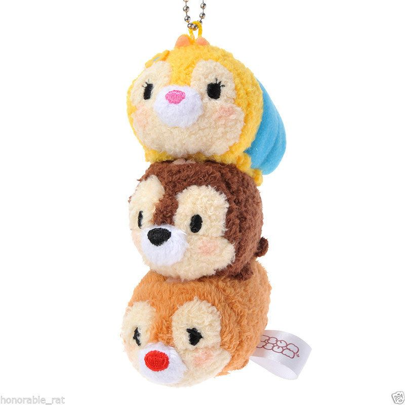 New Disney Store Japan Tsum Tsum Chip and Dale Key Chain Clarice | eBay