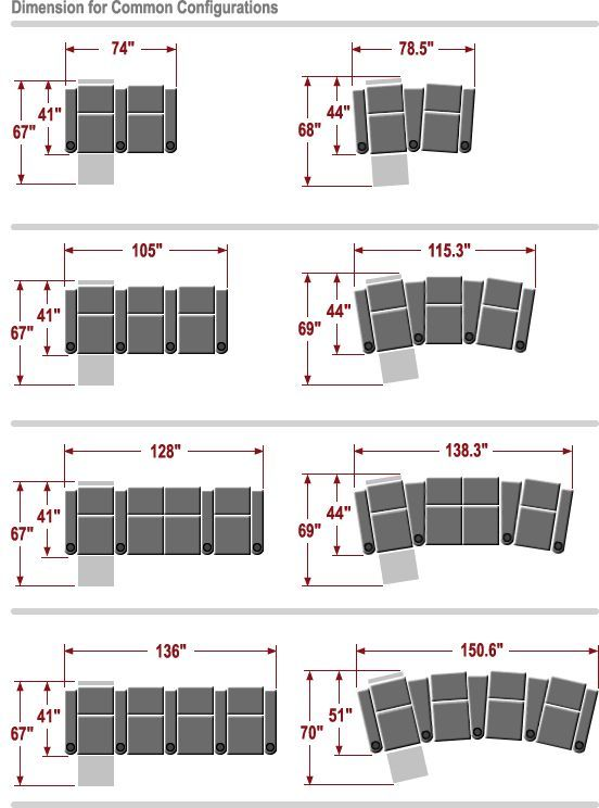 Home Theater Room Seating Dimensions For Palliser