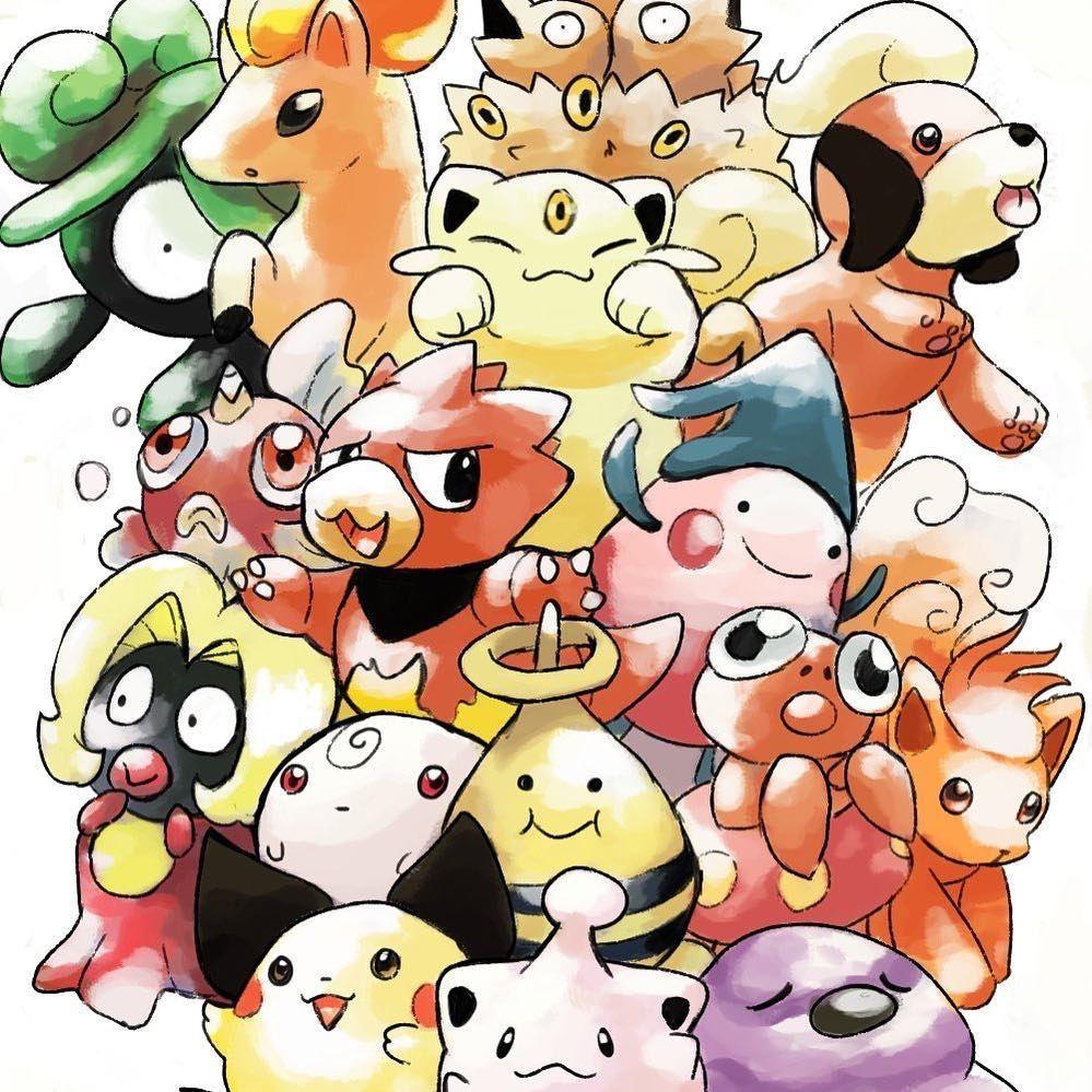 So with in the last couple of days a demo of Pokemon gold and then Pokemon silver from space world 1997 both got leaked online and have provided the gaming artist community with a wealth of beta Pokemon a lot of them are baby forms of current gen 1 pokemon and some are completely lost Pokemon I absolutely love all of this art (and it more than makes up for the disappointment that is Pokemon quest and Pokemon lets go reveal from earlier this week) #pokemon #pokemongold #pokemonsilver #pokemongo #