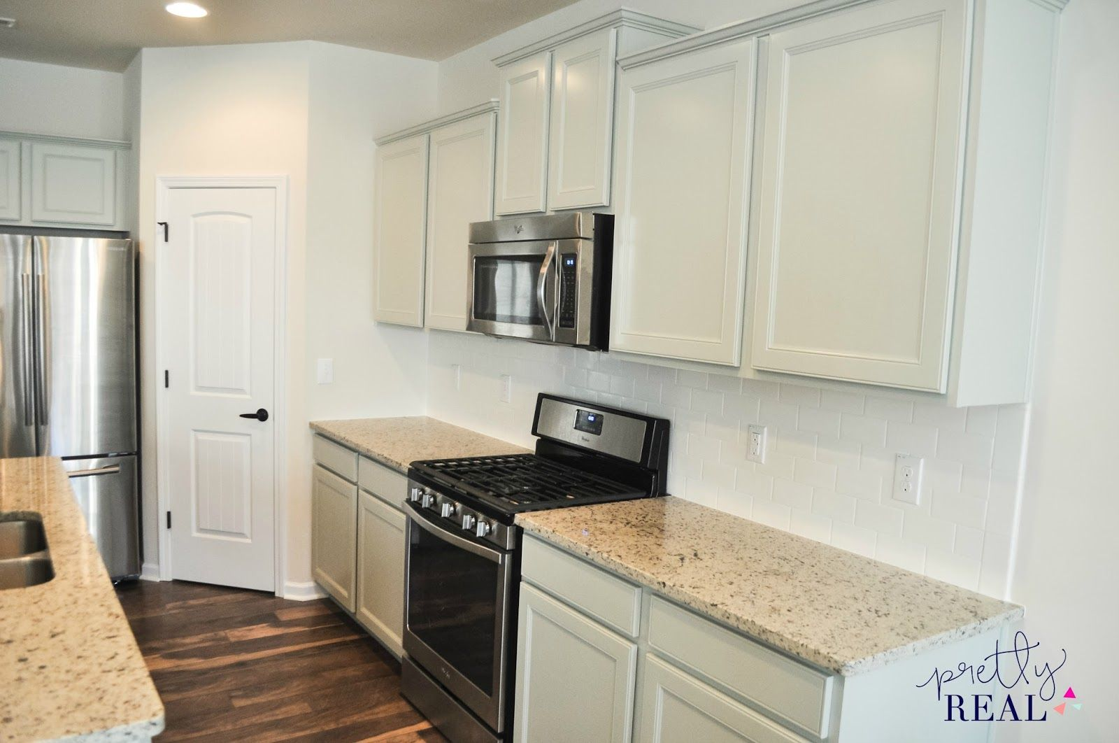 We painted our brand new kitchen cabinets and hereus how it turned