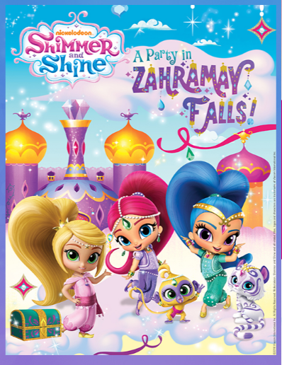 Shimmer And Shine Party Books Movies Free Coloring Book Perfect For Preschool