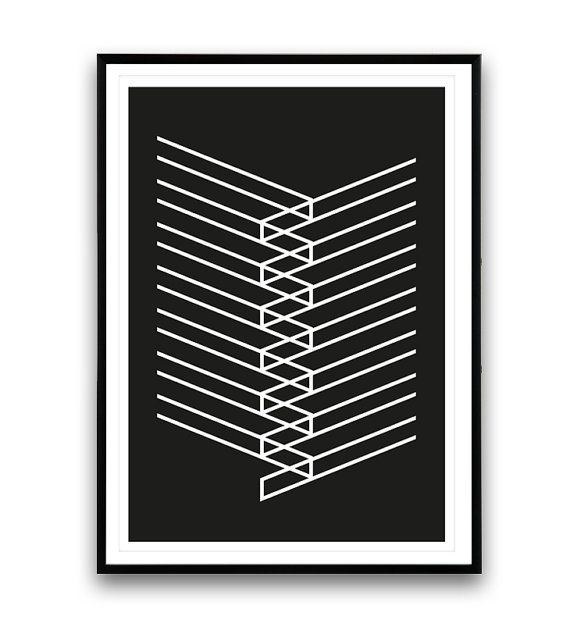 Simple and elegant black and white abstract for your wall dimensions available 5 x