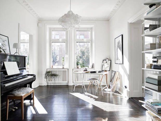 my scandinavian home A striking yet calm monochromatic Swedish home
