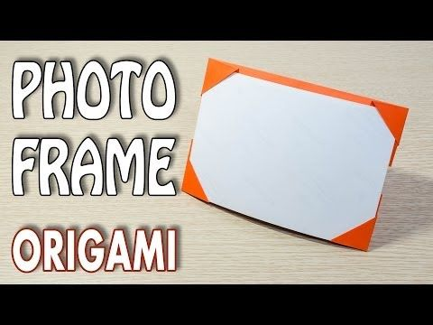 Origami Photo Frame Picture Frame Tutorial Youtube Festival Of