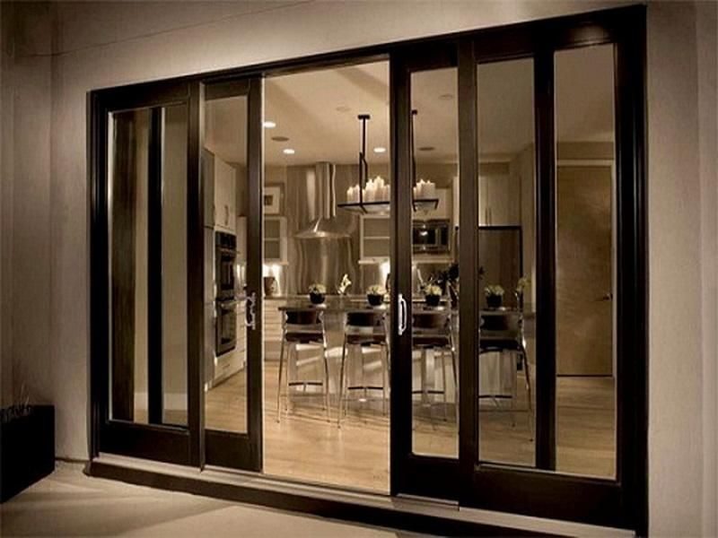 Anderson sliding glass doors screen black furniture for Sliding main door