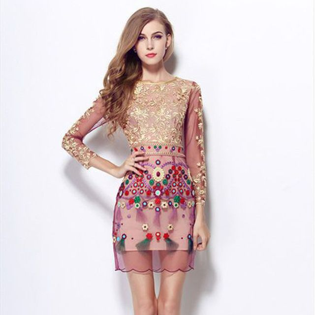 Sleeve Mini Dress Quality Dresses An Directly From China Fleece Suppliers High Fashion 2016 Spring Summer Women Vestido
