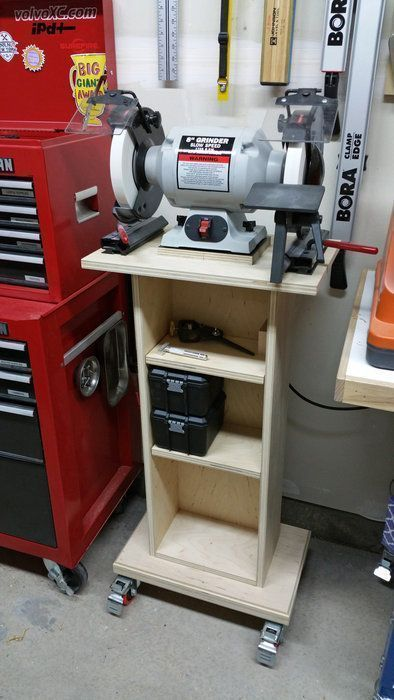 Grinder Stand Woodworkingbench Garage Workshop Diy