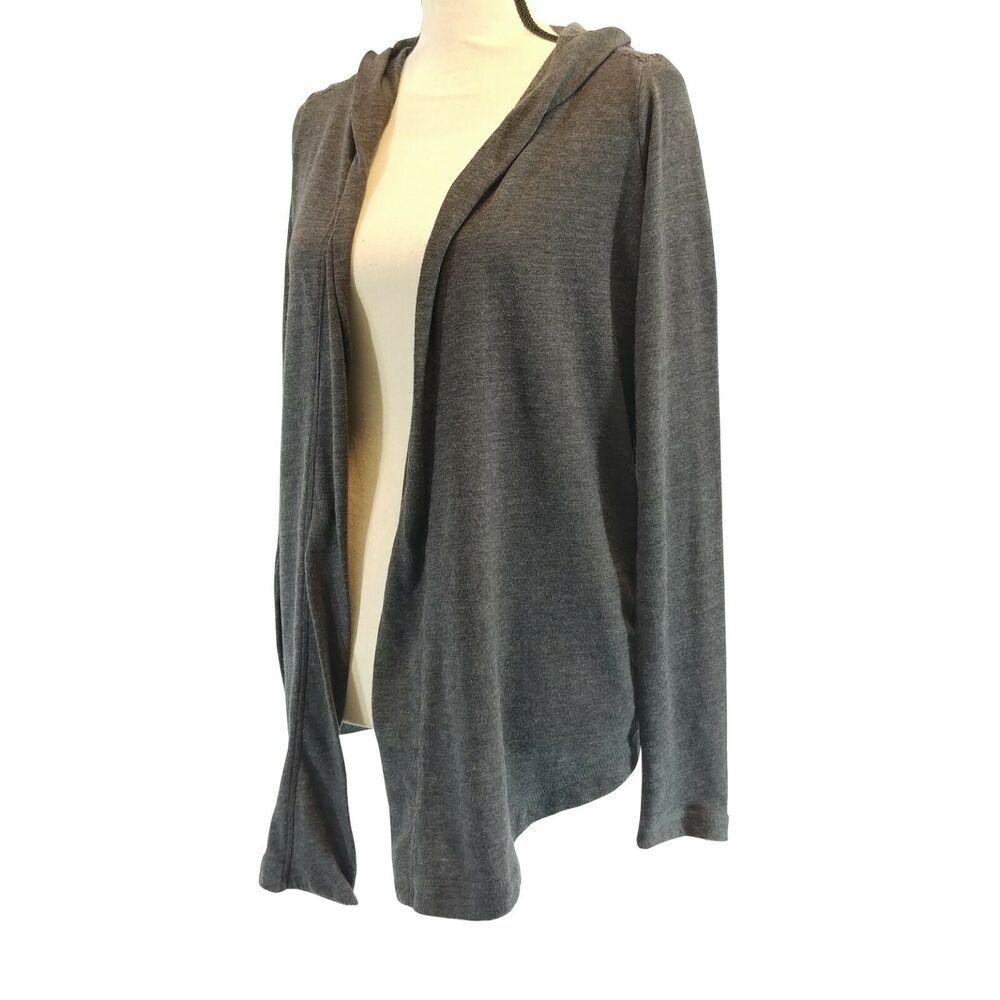 Lucky Lotus Womens Sweater Gray Size Small Open Front Crochet Back Hood Pockets Luckylotus Cardigan Casual Sweaters For Women Outerwear Women Grey Sweater [ 1000 x 1000 Pixel ]